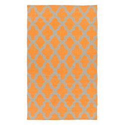 Artistic Weavers - Artistic Weavers York Olivia (Orange) 5' x 8' Rug - This Hand Woven rug would make a great addition to any room in the house. The plush feel and durability of this rug will make it a must for your home. Free Shipping - Quick Delivery - Satisfaction Guaranteed