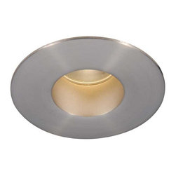 W.A.C  Lighting - Tesla 2 LED Round Shower Trim 26 Degree - Tesla 2 Inch Round LED Shower Trim features a minimum profile with interior open reflector and is constructed of die cast aluminum with borosilicate glass lens and extruded aluminum heat sink. Finish available in Copper Bronze, White or Brushed Nickel. Includes one 11.7 watt Luxeon S multi-chip LED, 85CRI with 26 degree beam angle and 3000K color temperature, 405 lumens, or 4000K color temperature, 405 lumens. Total power consumption of 14.3 watts with housing. 50000 hour average lamp life. 30 degree cut off angle for glare control. UL listed for wet locations. Dimensions: 4.25 inch outside diameter x 3.9 inch height. 2 inch inside diameter. Includes 5 year warranty. Recessed housing required, sold separately.