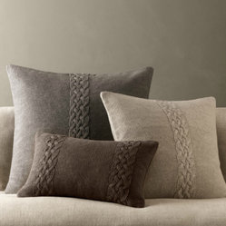 Belgian Linen Knit Pillow Covers