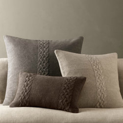 Belgian Linen Knit Pillow Covers - I've been searching for some classic looking knit pillows and these are gorgeous — I love the subtle colors that would make the couch look so enticing.