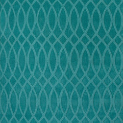 Jaipur Rugs - Handmade Geometric Pattern Wool Blue Area Rug ( 8x11 ) - This collections offers simple modern geometrics in all the fashion colors. Hand loomed in 100% wool each rug make a bold  solid  color statement to compliment contemporary interiors. The pattern and texture is created through a high/low loop and pile construction.