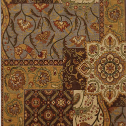 """Karastan - Karastan Carmel 74700-13132 (Monte Vista Fog) 2'11"""" x 4'8"""" Rug - Floral motifs, sophisticated graphic patterns and modern damasks take center stage in the Carmel collection. Styled for today's relaxed living these fashion inspired patterns feature color palettes that are decorator friendly and offer the consumer an easy decorating choice."""