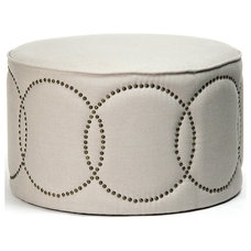 Transitional Footstools And Ottomans by Kathy Kuo Home