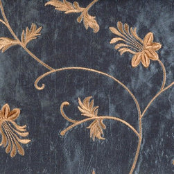 Leaf/Foliage/Vine - Blue Ice Upholstery Fabric - Item #1009516-593.