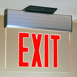 """Trans Globe Lighting - Safety Exit Sign Multi Surface Mount - Safety first. Commercial grade emergency lights run on battery back up to light up corridors and exit doors. Flame resistant. Includes battery backup so lights come on in power outage;Flame resistant material;Will withstand damp to wet conditions;Commercial grade ;Bulb Type: LED;Bulb Wattage: 10W LED;No. of Lights: LED;Bulbs Included: Yes;UL Listed: DAMP / FLAME;Warranty: 1 year warranty parts or replacement Dimensions: 11.25"""" H x 13.25"""" W"""