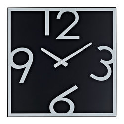 Modway - Modway EEI-763 Schoolhouse Wall Clock in Black White - Demonstrate mathematical operations graphically with this playful teaching tool. Divide time into pieces as logical steps help children differentiate between hidden and visible numbering. Let the formative years of youth develop basic analytics while accurately portraying time and rendering reality.