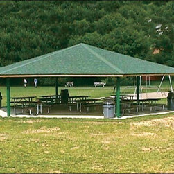 Fifthroom - 45' x 45' Laminated Wood Hexagon Orchard Pavilion -