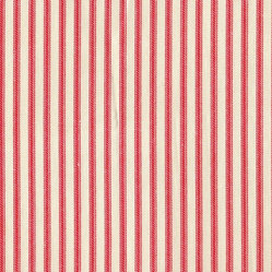 "18"" Bedskirt Gathered Cherry Red Ticking Stripe"