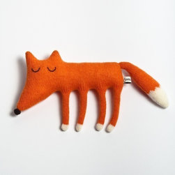 Monty the Sleepy Fox Lambswool Plush Toy by Sara Carr - Every kid's space needs a furry friend. I love this handmade fella from Sara Carr.