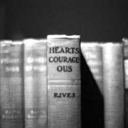 """Hearts Courageous"" Artwork - Black and white image with text."