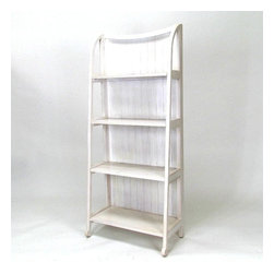 Wayborn - Wayborn Basswood Display Stand in Whitewash - Wayborn - Bookcases - 3539W