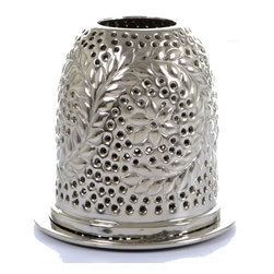 "Concepts Life - Concepts Life Candle Holder  Star Gazer Tealight  7"" - Dress up your windowsill with these silver Star Gazer Tealight Lanterns and add glamour and romance to your home. These lanters have ornate detailing and perforated patterns that will add a warm glow to your dinner table, whether inside our ouside.  Aluminum votive candle holder Lantern has floral design Perforated detailing allows light to shine through Comes wrapped in gift-box Dimensions: 7""l x 7""d x 7""h Weight: 1"" lb"