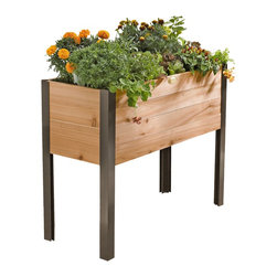 Gardener's Supply Company - Standing Garden, Without Casters - The most convenient and manueverable cedar raised bed planter is our Standing Garden. Raise your garden with our handsome and durable Standing Garden. It makes tending your plants comfortable and easy. Grow anything you'd like in our Standing Garden, and set it up on any flat surface.