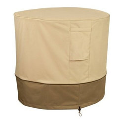 Classic Accessories Round Air Conditioner Cover - Pebble - Make sure your AC unit is in peak condition and ready for the summer with the Round Air Conditioner Cover – Pebble. Its rugged design features a poly fabric outer and PVC inner that is weather resistant. It features air vents for circulation and moisture reduction as well as handy click close straps and padded handles. An elastic hem cord with adjustable toggle offers a snug fit.About Classic AccessoriesFounded from small beginnings, Classic Accessories has grown in the past 30 years from a small basement operation in Seattle's Roosevelt neighborhood making seatbelt pads and steering wheel covers, to a successful and expanding company now making a wide variety of products from car to boat covers and much more. Innovative, stylish designs define products that are functional and made to last. From little details to the largest innovations, Classic Accessories is always moving forward and looking to provide cover and storage solutions to a clientele that has a passion for the outdoors, from backyard gatherings to exciting camping trips, Classic Accessories provides the products that keeps your equipment looking great all season long.