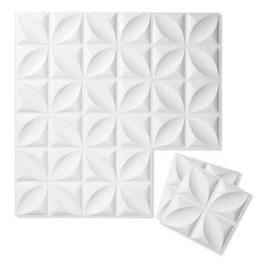 Inhabit - Inhabit Chrysalis Wall Flats Set of 10 - Forgo drywall and folding screens and install these lightweight dimensional wall tiles, creating sculptural walls anywhere you want them in your home. This wall option is both chic and functional, and you'll love the unique three dimensional botanically inspired pattern. Each panel is molded from bagasse, a renewable resource, making this an easy, ecofriendly choice for your home.