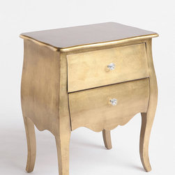 Brass Leaf Side Table - Brushed gold is a great way to add texture to an item. This side table has been taken up a notch with this new look.
