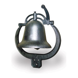 Buffalo Tools - Sportsman Series Cast Iron Farm Bell - Cast Iron Farm Bell by Sportsman Series. Call 'em home to dinner with the Sportsman Series Cast Iron Farm Bell. The classic frontier style Farm Bell is made of durable cast iron coated in a durable rust resistant black finish. It is intended to hang outside in the wind and weather from the porch or a fence post, just like you see in the westerns. The uniquely shaped bracket can be mounted vertically or horizontally. The Farm Bell rings load and clear for the entire family to hear. Cast iron farm bell rings loud and clear Classic design intended for outdoor use Uniquely shaped bracket can be mounted vertically or horizontally Durable, rust resistant black finish Dimensions: 17 in. L x 15 in. W x 8.3 in.  H
