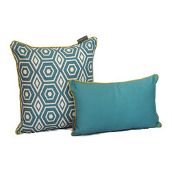 ez living home - Honeycomb Dec Pillow, Turquoise - *Aesthetically pleasing geometric pattern, EZ to decorate with, suitable for any style.