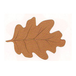 C F enterprises - Red Oak Leaf Placemat, Terra Cotta - High quality quilted placemats by C F Enterprise transform your table in fresh colors and styles.