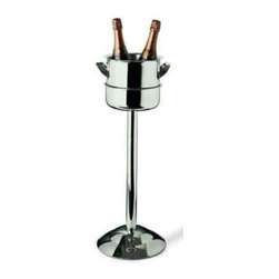 Franmara - Polished Stainless Steel Triomphe Wine Cooler and Stand - This gorgeous Polished Stainless Steel Triomphe Wine Cooler and Stand has the finest details and highest quality you will find anywhere! Polished Stainless Steel Triomphe Wine Cooler and Stand is truly remarkable.