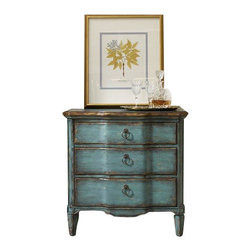 "Silver Nest - Ocean Three Drawer Chest- 32x18 32""h - Turquoise, three drawer chest"