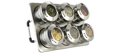 Spice Jars And Spice Racks Cuisinox Magnetic Countertop Spice Rack