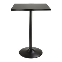 Winsome Wood - Winsome Wood 20522 Obsidian Pub Square Table in Black - Pub square table in black belongs to obsidian collection by winsome wood