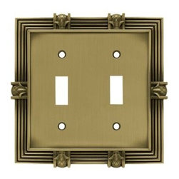 Liberty Hardware - Liberty Hardware 64470 Pineapple WP Collection 4.96 Inch Switch Plate - A simple change can make a huge impact on the look and feel of any room. Change out your old wall plates and give any room a brand new feel. Experience the look of a quality Liberty Hardware wall plate. Width - 4.96 Inch, Height - 4.9 Inch, Projection - 0.3 Inch, Finish - Tumbled Antique Brass, Weight - 0.54 Lbs.