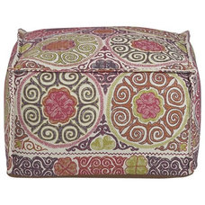 eclectic ottomans and cubes by Crate&Barrel