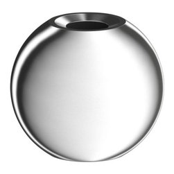 Ehlén Johansson - Nässjö Candlestick - These silver orbs offer high style at an unbelievably low price.