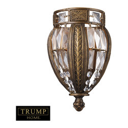 Elk Lighting - Millwood 1-Light Sconce in Antique Bronze - Millwood reflects formal elegance and upscale design. Delicate leaf motifs and detailed ironwork compliment the distinct crystal pieces. The antique bronze finish with gold highlights accent the intricate detail and classic appeal of the collection.