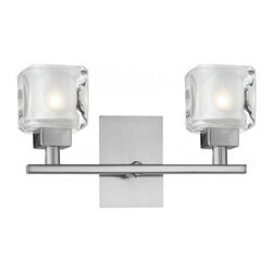 Eglo - Tanga1 2 Light Wall Sconce - Tanga 1 2 Light Wall Sconce in Matte Nickel Finish and Steel Base with Frosted and Clear Glass.