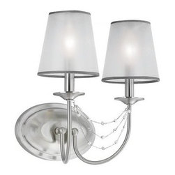 Murray Feiss - Murray Feiss WB1716 Aveline 2 Light Reversible Double Wall Sconce - Features: