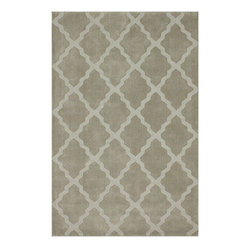 Nuloom - nuLOOM Handmade Moroccan Trellis Taupe Wool Rug (6' x 9') - Add subtle elegance to a room with this exquisite hand-hooked wool rug. Made from Moroccan trellis wool using petit point stitching,the rug is a joy to walk on.