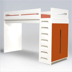 ducduc Alex Loft Be - Whether you add a second twin below for a modern take on bunk beds, or add a desk, or leave the space open for spreading out toys, this loft bed adds great design to any kid's space. With a safe and sleek ladder system and storage on the end, this is may be all of the furniture you need in a small bedroom space.