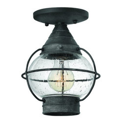 "Hinkley Lighting - Hinkley Lighting 2203-LED 1 Light LED Semi-Flush Outdoor Ceiling Fixture - Single Light 23.25"" Height Lantern Outdoor Wall Sconce from the Cape Cod CollectionFeatures:"