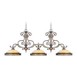 Livex Lighting - Livex Lighting-8546-64-Seville - Three Light Island Chandelier - Height: 20.75""
