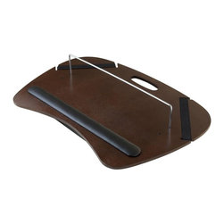 Winsome Wood - 22.76 in. Lap Desk in Antique Walnut Finish - Includes cushion and U shape rod. Detachable pillow cushion. Two black straps. Soft arm rest pad. Truly functional and full of bell and whistles. Made from wood and metal. No assembly required. Storage: 15.75 in. W x 9.45 in. D x 1.38 in. H. Overall: 22.76 in. W x 15.75 in. D x 5 in. HKane lap desk is perfect for work or play with style and comfort. This large lap desk with hard wood surface is great for writing or work on your computer or tablet.