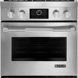 """Jenn-Air Pro Style Series JGRP430WP 30"""" Pro-Style® Gas Range - 30"""" Pro-Style® Gas Range with 4 Burners and 4.1 cu. ft. Capacity Self Cleaning Convection Oven, LCD Display, Cast Iron Grates"""