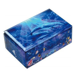 Westland - Two Dolphins Swimming Best Friends Multi-Colored Music Box - This gorgeous Two Dolphins Swimming Best Friends Multi-Colored Music Box has the finest details and highest quality you will find anywhere!