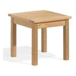 "Oxford Garden 18"" Square Shorea End Table - It could be the end, or it could be the beginning of a favorable marriage between Shorea wood furniture and their handy companions.  18"" Square End Table can be placed next to a bench, chair, or as a stand-alone piece to fill a corner that needs that special something to make it complete.  Mix and"