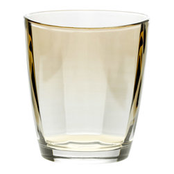 """Vietri - Vietri Crystal Optical Set of 4 Double Old Fashioned Glasses 4""""H, 10 oz, Amber - Our Optical drinkware is a classic and a must-have for every bride! Elegant lines and a substantial weight gives this double old fashioned glass the sense of timeless crystal. Handcrafted in Naples, Italy and dishwasher safe."""