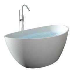 Badeloft - Badeloft - UPC Certified - Stone Resin, Freestanding Bathtub, Matte, Extra Large - UPC Certified -