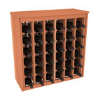 Wine Racks America - 36 Bottle Deluxe Wine Rack in Premium Redwood, (Unstained) - Great start or addition to wine rack furniture, this wooden wine rack is designed to look like a freestanding wine cabinet. Solid top and side enclosures promote the cool and dark storage area necessary for aging your wine properly. Your satisfaction and our racks are guaranteed.