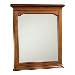 American Drew - American Drew Classics Rectangular Mirror in Brown Cherry - The Classics collection from American Drew is a clean, traditional group with Louis Phillipe design influences such as heavy moldings and bases with broad pilasters. The design of the American Drew Classics collection lends itself to fit into many bedroom settings and the scale works great for second bedrooms or even smaller master bedrooms.