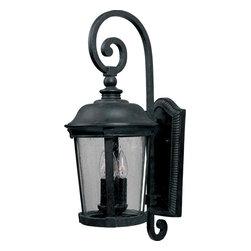 Joshua Marshal - Three Light Bronze Seedy Glass Wall Lantern - Three Light Bronze Seedy Glass Wall Lantern