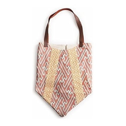 Rosanna - Calypso Bags Coral/orange with leather Handle Pumpkin Bag By Rosanna - Calling all fashionistas: Make a slouchy statement at the beach, the market, or on the street with our new printed bags. These bags feature sturdy leather handles, a double lined interior, and an inside pocket.