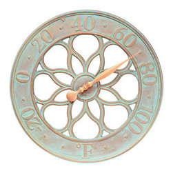 Whitehall Products LLC - Medallion Thermometer - Copper Verdi - Features: