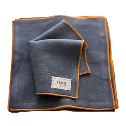 Non-Perishable Goods - Cocktail Napkins, Set of 10, Tweed With Mustard - We believe that food....and drink!.... Tastes better and is more appreciated when accompanied by a cloth napkin! (not to mention creates less waste!)