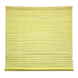 Oriental Unlimited - Shoji Paper Roll Up Blinds in Light Yellow (3 - Choose Size: 36 in. WideShoji Paper Blinds are a wonderful accent to any room. They are not easy to find. Made of light yellow shoji rice paper. Easy to hang and operate. 24 in. W x 72 in. H. 36 in. W x 72 in. H. 48 in. W x 72 in. H. 60 in. W x 72 in. H. 72 in. W x 72 in. H